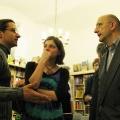 Lesung am 8. Mai 2009 in Lhotzkys Literaturbuffet - Georg Schober,  Nadine Pauland, Jan Hilmar im Gespräch