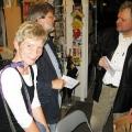 Lesung am 8. Mai 2009 in Lhotzkys Literaturbuffet - Barbara Finke-Heinrich, Bernd Heinrich und Werner Lang im Gespräch