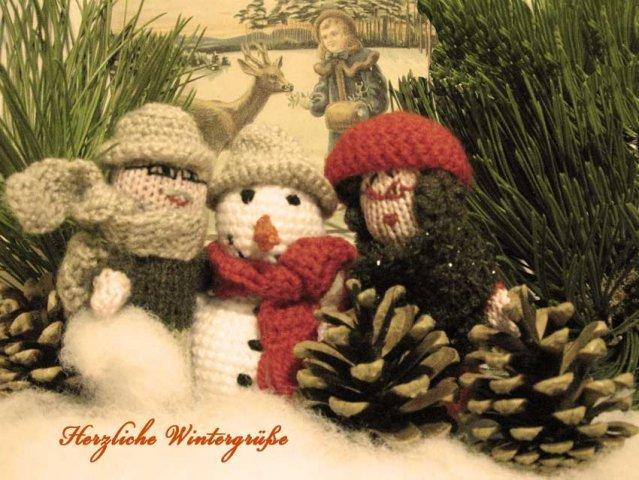Weihnachtskarte Weihnachtsmann mit Text