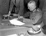 GFM Keitel unterzeichnet in Berlin-Karlshorst die bedingungslose Kapitulation der Wehrmacht (9. Mai 1945)