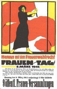 """Plakat """"Heraus mit dem Frauenwahlrecht"""""""