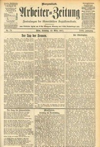 """""""Der Tag der Frauen"""" - Arbeiterzeitung vom 19. März 1911"""
