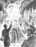 Bücherverbrennung 1933 von Otto Gerhausen (1881-1936)