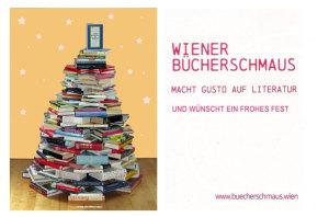 Bücherweihnachtsbaum e-Card