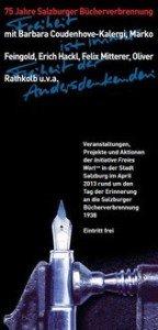 75 jahre Salzburger Bücherverbrennung