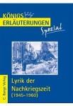 Buchcover Königs Erläuterungen Lyrik der Nachkriegszeit
