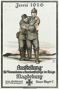 Plakat zur Ausstellung für Verwundeten- und Krankenfürsorge 1915