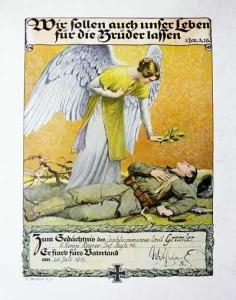Gedenkblatt für den Landsturmmann Emil Gremler