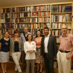 Bezirksvorsteher Rumelhart und das Team des Wiener Bücherschmaus
